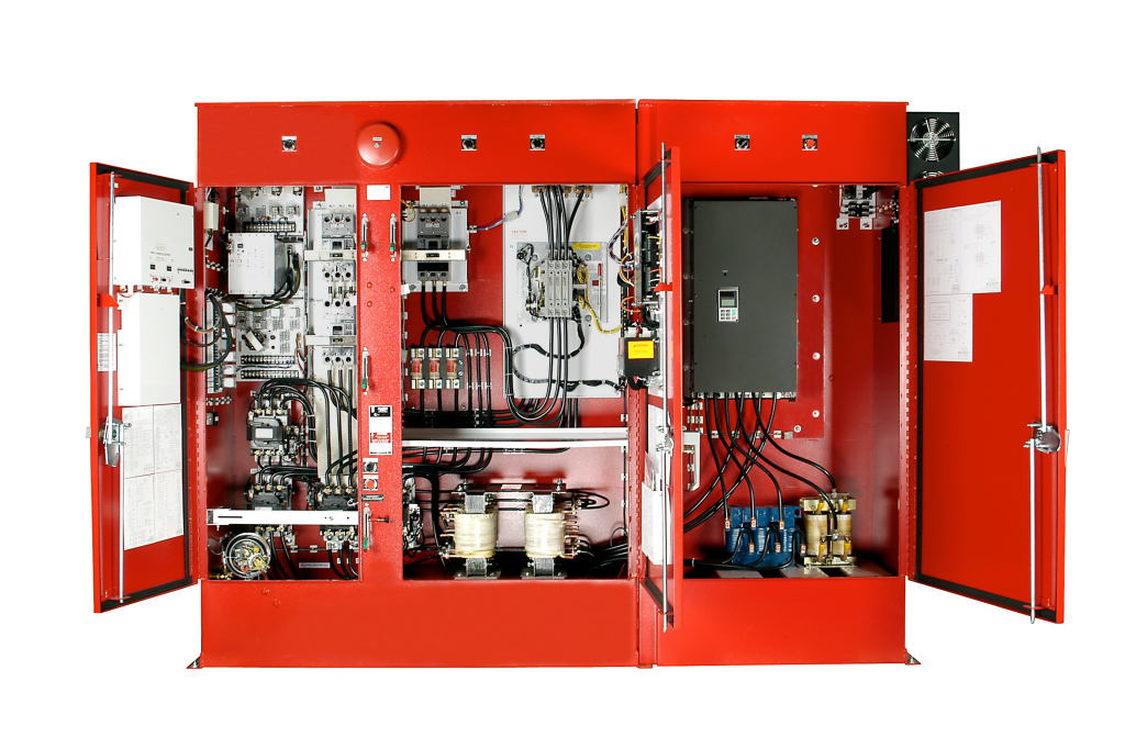 Variable Speed Fire Pump Controller - Open Door