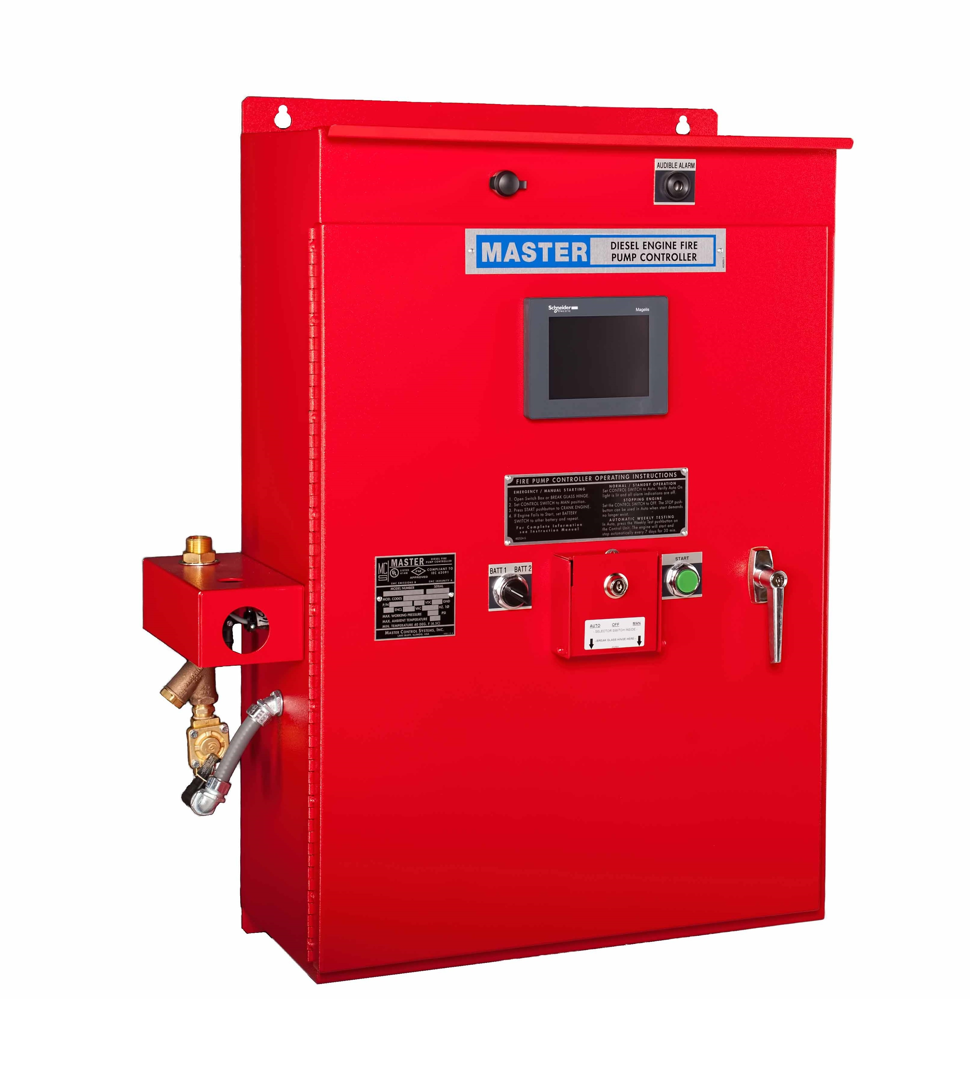 Enhanced Diesel Fire Pump Controller - Closed Door