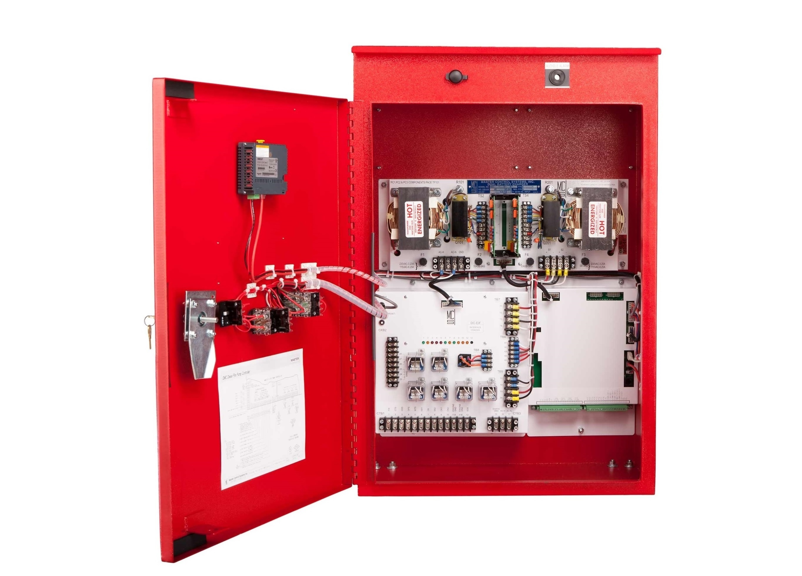 Enhanced Diesel Fire Pump Controller - Open Door