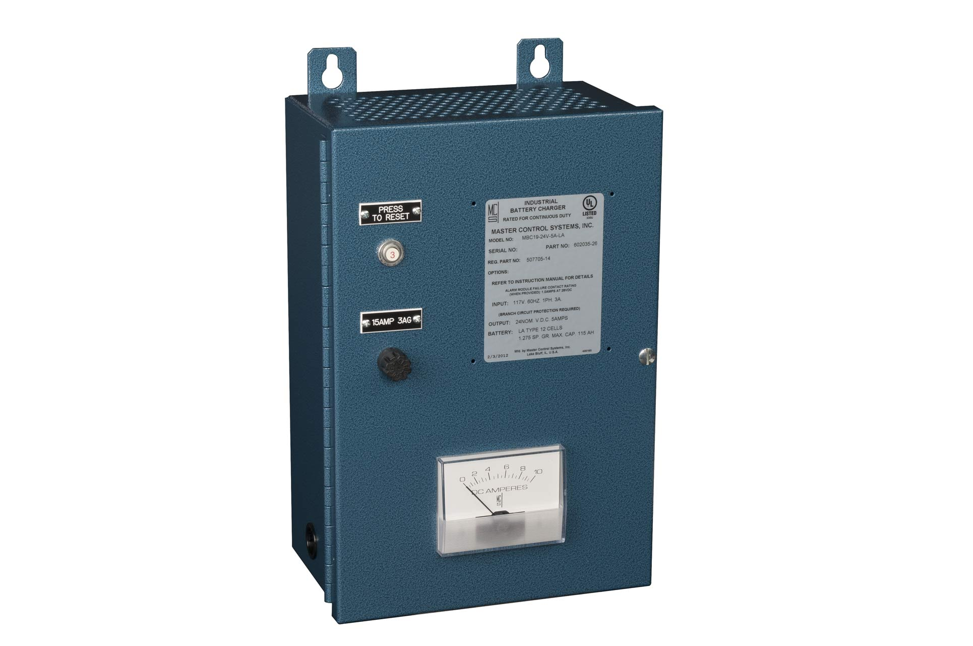 MBC6, MBC7, MBC19 Industrial Battery Chargers